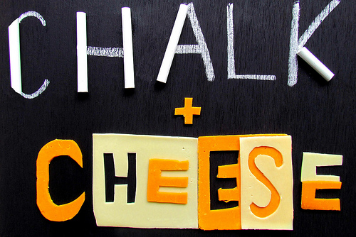 chalk and cheese photo