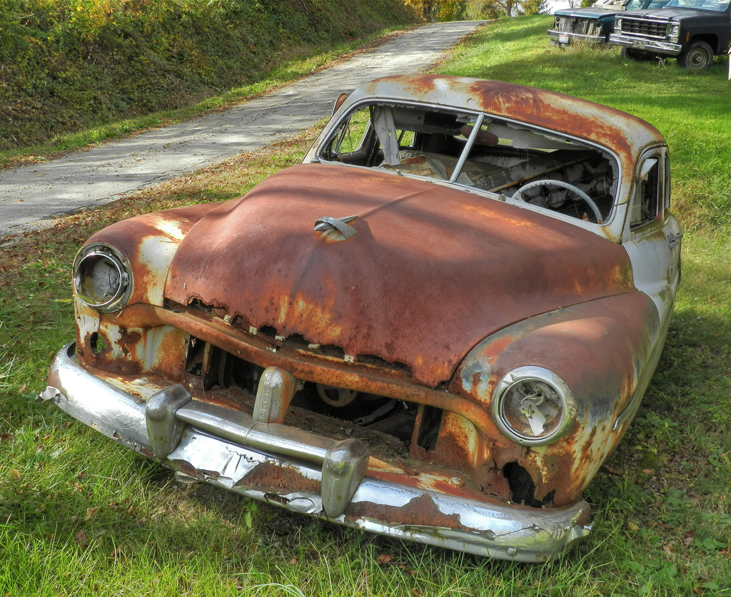 rusting cars photo