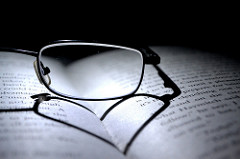books and glasses photo